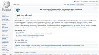 Physicians Mutual - Wikipedia