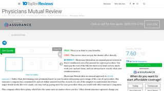 Physicians Mutual Dental Insurance Review - Plans, Limits