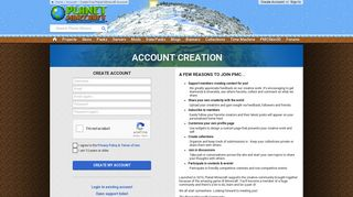 Create Free Planet Minecraft Account