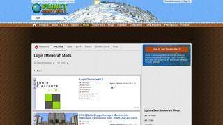 Best Login Minecraft Mods - Planet Minecraft