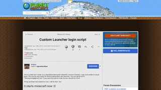 Custom Launcher login script Minecraft Blog - Planet Minecraft