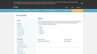 POF Help Center - Mobile   POF.com
