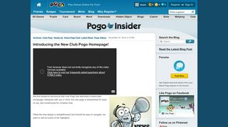 Introducing the New Club Pogo Homepage!