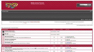 Battle Arena Forums • Index page