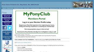 Set up your MyPonyClub Member Profile today! - PCAV