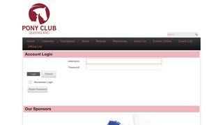 Pony Club QLD > Login - PCAQ