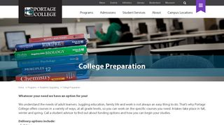 College Preparation & University College Entrance ... - Portage College