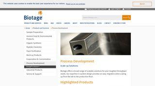 Biotage - Process Development