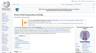 Power Grid Corporation of India - Wikipedia