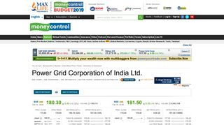 Power Grid Corporation of India Ltd. Stock Price, Share Price, Live ...