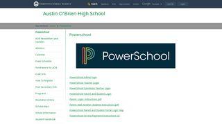Powerschool - Edmonton Catholic Schools