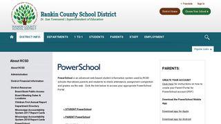 About RCSD / PowerSchool