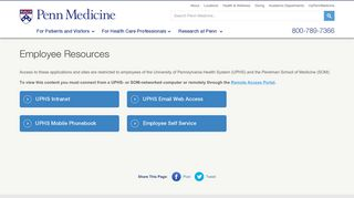 Employee Resources – Penn Medicine