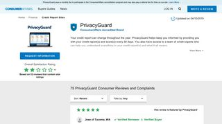 Top 75 Reviews and Complaints about PrivacyGuard