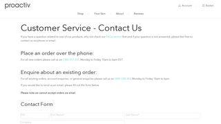Contact Us   Proactiv Customer Service - Proactiv Australia