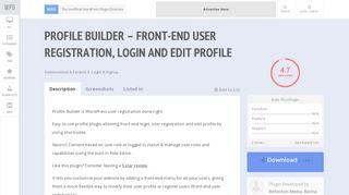 Profile Builder – front-end user registration, login and edit profile   WP ...