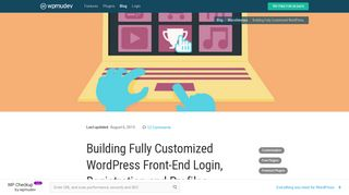 Building Fully Customized WordPress Front-End Login, Registration ...
