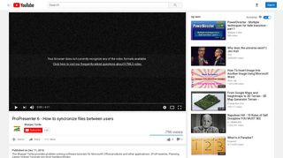 ProPresenter 6 - How to syncronize files between users - YouTube