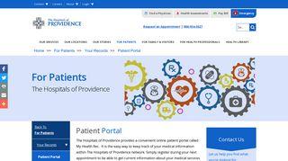 Patient Portal   Hospitals of Providence   El Paso, TX