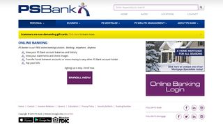 PS Bank - Online Banking