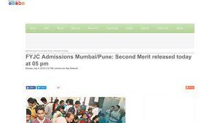 FYJC Admissions Mumbai/Pune: Second Merit released today at 05 ...