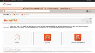 Purity//FA - Pure1 Support Portal