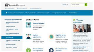 Graduate Portal | Employment and jobs | Queensland Government