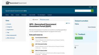 QPS—Queensland Government Investment Portal (QGIP) - Datasets ...