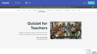 For Teachers   Quizlet