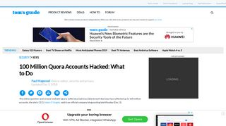 100 Million Quora Accounts Hacked: What to Do - Tom's Guide