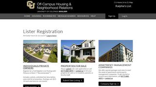 University of Colorado at Boulder | Off Campus ... - Ralphie's List