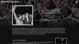 Fan Club - Ran Fans - Miranda Lambert