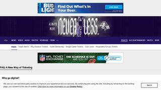 Ravens Digital Tickets FAQ | Baltimore Ravens – baltimoreravens.com