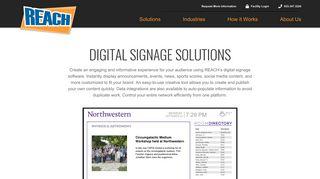 Digital Signage Solutions | Digital Signage Software | Reach Media ...