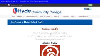 RealSmart @ Hyde: Help & FAQs | Hyde Community College