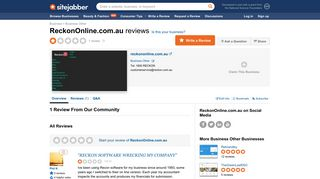 ReckonOnline.com.au Reviews - 1 Review of Reckononline.com.au ...