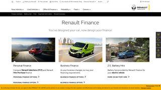 Renault Finance   Services   Renault UK