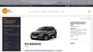 Nissan Renault Financial Servicies India (NRFSI)   RCI Bank and ...