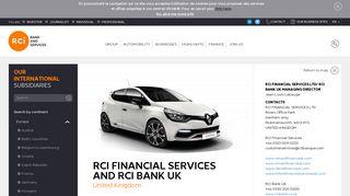 RCI Financial Services United Kingdom : UK subsidiary   RCI Bank ...