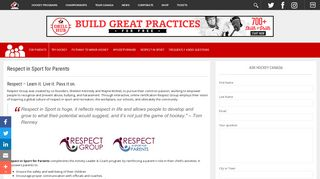Respect in Sport Program   For Parents - Hockey Canada