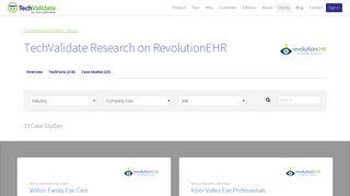 RevolutionEHR Case Studies   TechValidate