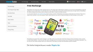 Free Mobile Recharge at Rewardbase