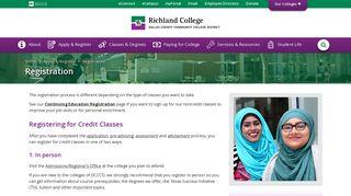 Registration : Richland College