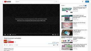 Robik Ex account verification. - YouTube
