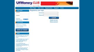 Registered user login - Viewing payed advertising sites ufmoney.club ...