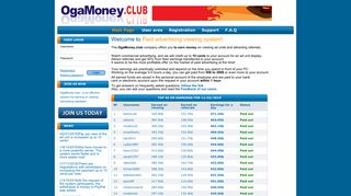 Viewing payed advertising sites ogamoney.club - Welcome!