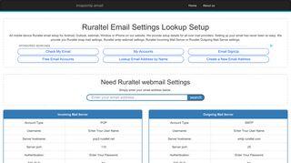 Ruraltel Email Settings | Ruraltel Webmail | ruraltel.net Email