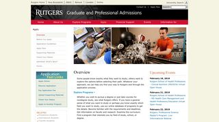 Overview | Graduate and Professional Admissions