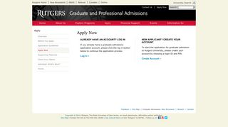 Apply Now - Graduate Admissions - Rutgers University