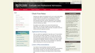 Check Your Status | Graduate and Professional Admissions